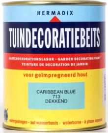 Hermadix Tuindecoratiebeits 713 Caribbean Blue Dekkend 750 ml