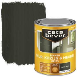 CetaBever Deur-, Kozijn- en Meubelbeits Black Wash Zijdeglans 750 ml