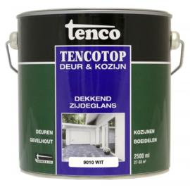 Tencotop Deur & Kozijn Dekkend Zijdeglans RAL 9010 Wit 2,5 Liter