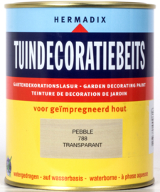 Hermadix Tuindecoratiebeits 788 Pebble Transparant 750 ml