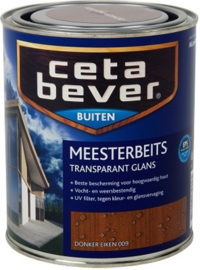 Cetabever Meesterbeits UV Glans Transparant Donker Eiken 009 750 ml