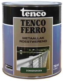 Tenco Ferro Roestwerende IJzerverf  Zijdeglans Donkergroen 750 ml