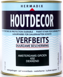 Hermadix Houtdecor Verfbeits Dekkend 632 Amsterdams Groen 750 ml