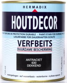 Hermadix Houtdecor Verfbeits Dekkend 630 Antraciet 750 ml