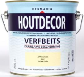 Hermadix Houtdecor Verfbeits Dekkend 602 Zandgeel 2,5 Liter