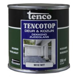 Tencotop Deur & Kozijn Dekkend Zijdeglans RAL 9010 Wit 250 ml