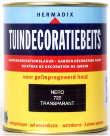 Hermadix Tuindecoratiebeits 720 Nero Transparant 750 ml