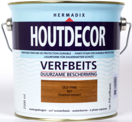 Hermadix Houtdecor Verfbeits Transparant 657 Old Pine 2,5 Liter
