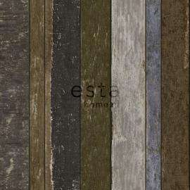Esta Home Vintage Rules - Sloophout Behang - 138254