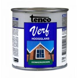 Tenco Verf Hoogglans Donkergroen 250 ml
