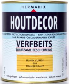 Hermadix Houtdecor Verfbeits Transparant 659 Blank Vuren 750 ml