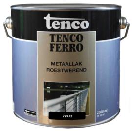 Tenco Ferro Roestwerende IJzerverf  Zijdeglans Zwart 2,5 Liter