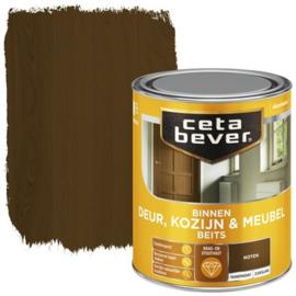 CetaBever Deur-, Kozijn- en Meubelbeits Noten Zijdeglans 750 ml