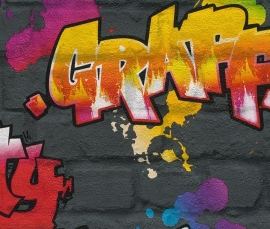 Rasch Kids Club 237801 Graffiti Behang