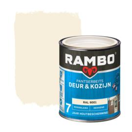 Rambo Pantserbeits Deur en Kozijn Dekkend Hoogglans RAL 9001 750 ml