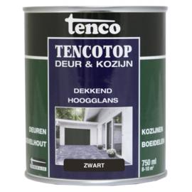 Tencotop Deur & Kozijn Dekkend Hoogglans Zwart 750 ml