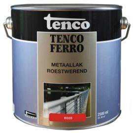Tenco Ferro Metaallak Roestwerend Zijdeglans Rood 2,5 Liter