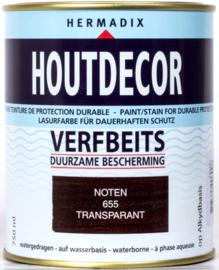 Hermadix Houtdecor Verfbeits Transparant 655 Noten 750 ml