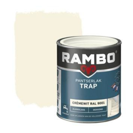 Rambo Pantserlak Trap Dekkend Zijdeglans Crèmewit 9001 750 ml
