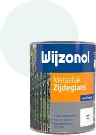 Wijzonol Metaallak Zijdeglans 9100 IJswit 750 ml