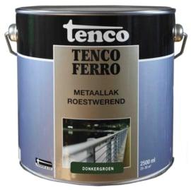 Tenco Ferro Roestwerende IJzerverf  Zijdeglans Donkergroen 2,5 Liter