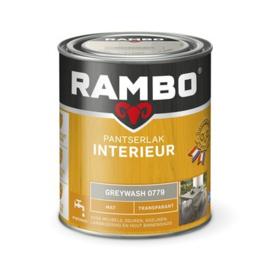 Rambo Pantserlak Interieur Greywash 0779 MAT 750 ml