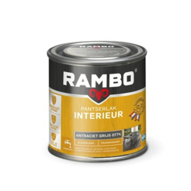 Rambo Pantserlak Interieur Antraciet Grijs 0774 ZIJDEGLANS 250 ml