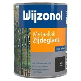 Wijzonol Metaallak Zijdeglans 9450 Zwart 750 ml