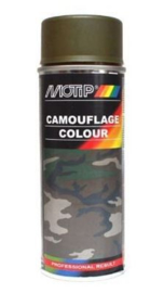 Motip Camouflagelak Mat RAL 6014 Geel Olijfgroen 400 ml