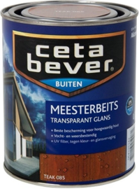 Cetabever Meesterbeits UV Glans Transparant - Teak 085 - 750 ml