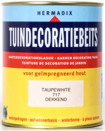 Hermadix Tuindecoratiebeits 717 Taupe White Dekkend 750 ml