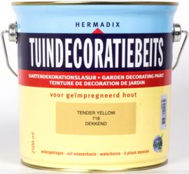 Hermadix Tuindecoratiebeits 718 Tender Yellow Dekkend 2,5 Liter