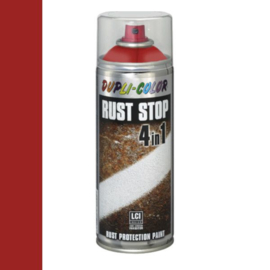 Dupli Color Rust Stop 4 in 1 Satin Matt RAL 3002 Karmijnrood 400 ml