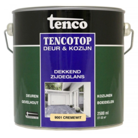 Tencotop Deur & Kozijn Dekkend Zijdeglans RAL 9001 Cremewit 2,5 Liter