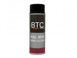 BTC Deco RAL 9005 Zwart Hoogglans 400 ml