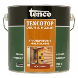 Tencotop Deur & Kozijn Transparant Halfglans Iroko Teak 2,5 Liter