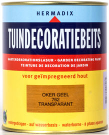 Hermadix Tuindecoratiebeits 762 Oker Geel Transparant 750 ml