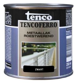 Tenco Ferro Roestwerende IJzerverf  Zijdeglans Zwart 250 ml