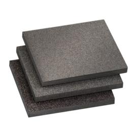 Schuurpadset 3-delig fijn/midden/grof 125x100x10 mm