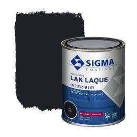 Sigma Lak Interieur Hout Hoogglans Ral 9005 750 ml