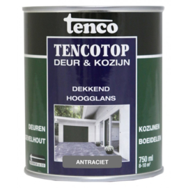 Tencotop Deur & Kozijn Dekkend Hoogglans Antraciet 750 ml