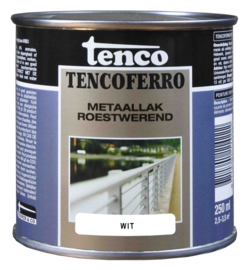 Tenco Ferro Metaallak Roestwerend Zijdeglans Wit 250 ml