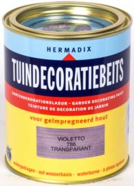 Hermadix Tuindecoratiebeits 786 Violetta Transparant 750 ml