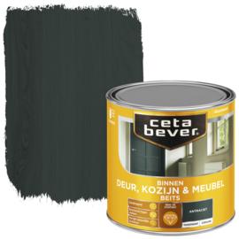 CetaBever Deur-, Kozijn- en Meubelbeits Antraciet Zijdeglans 250 ml