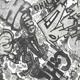 What's Up behang WU17641 Graffiti
