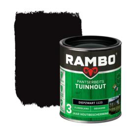 Rambo Pantserbeits Tuinhout Dekkend Diepzwart 1123 750 ml