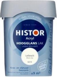 Histor Acryl Hoogglans Lak Leliewit 6213 750 ml