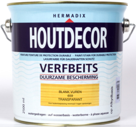 Hermadix Houtdecor Verfbeits Transparant 659 Blank Vuren 2,5 Liter