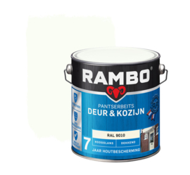 Rambo Pantserbeits Deur en Kozijn Dekkend Hoogglans RAL 9010 2,5 Liter