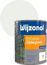 Wijzonol Metaallak Zijdeglans 9104 Wit 750 ml